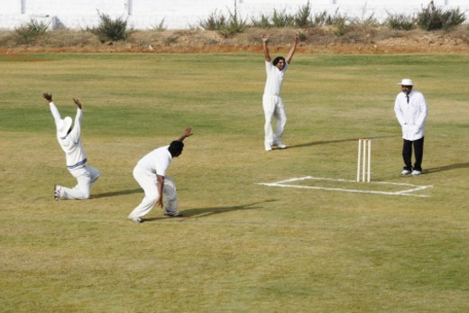 Stock Photo: 1491R-1195756 A cricket match in progress