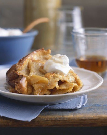Slice of Apple Pie with Whipped Cream : Stock Photo