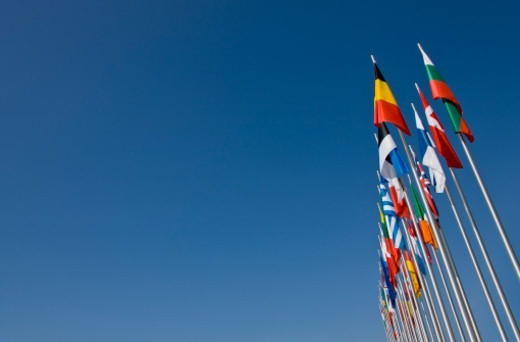 Flags At Bregenz, Austria : Stock Photo