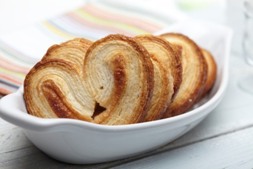 Food, Food And Drink, Cookie, Pastry, Puff Pastry, Croissant, Bread, Cookie, Palmier, Baked, Sugar, Dessert, : Stock Photo