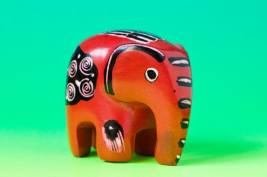 Stock Photo: 1491R-1202281 carved miniature soapstone elephant