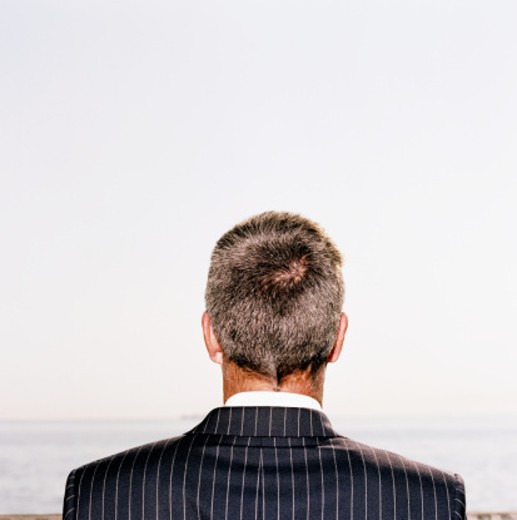 back of a businessman's head : Stock Photo