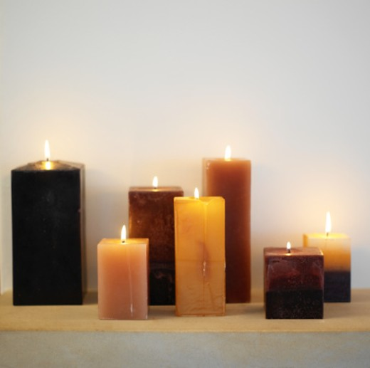 Stock Photo: 1491R-231002 group of lit candles