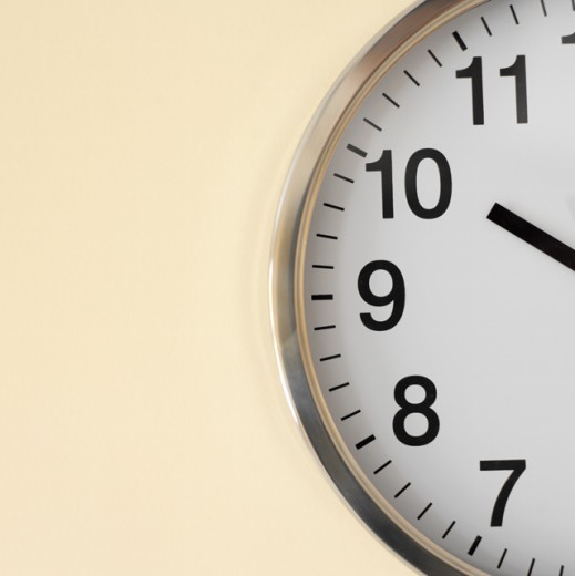 close up view of an alarm clock : Stock Photo