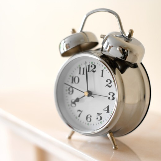 elevated view of an alarm clock : Stock Photo