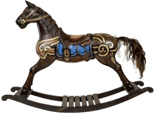 Stock Photo: 1491R-29124 child's wooden rocking horse