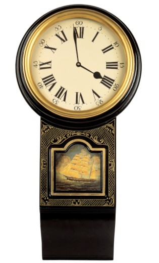 close-up of an old fashioned wall clock : Stock Photo