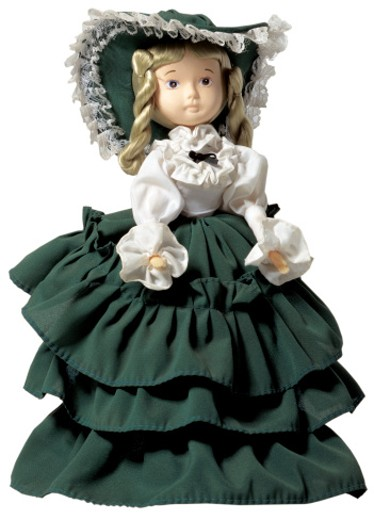 Stock Photo: 1491R-32027 female doll in a gown