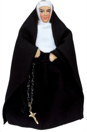 Stock Photo: 1491R-32072 figurine of a nun