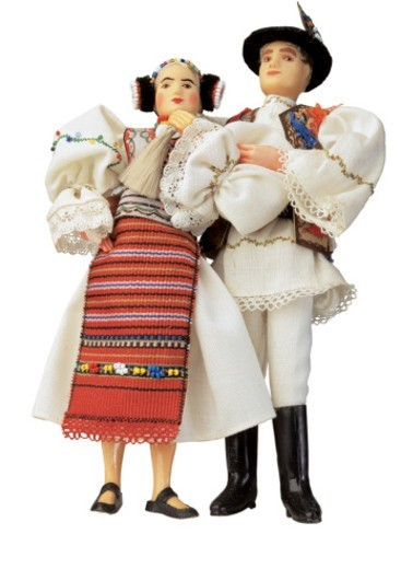 Russian couple doll : Stock Photo