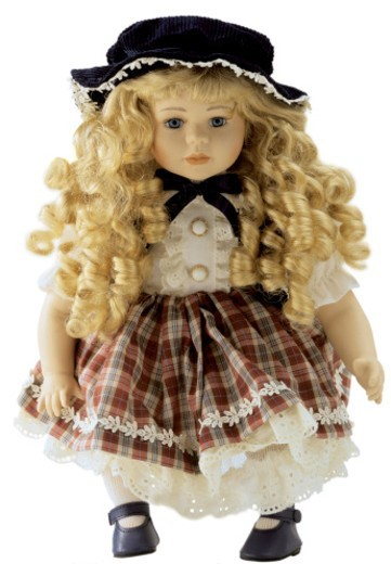female doll with a hat : Stock Photo