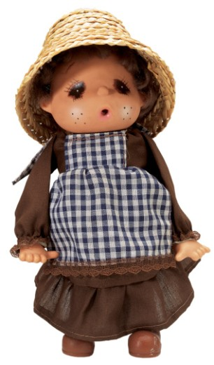 Stock Photo: 1491R-32115 female doll wearing a straw doll