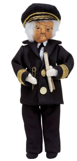 Stock Photo: 1491R-32121 male old doll in captains outfit
