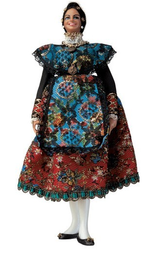 female doll in a dress : Stock Photo