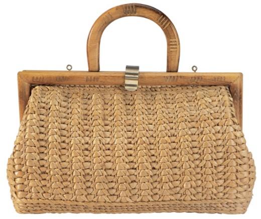 jute woven handbag : Stock Photo