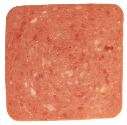 Stock Photo: 1491R-34066 close-up of a slice of ham