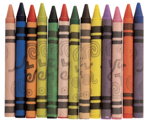Stock Photo: 1491R-35093 array of crayons