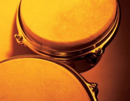 close-up of bongo drums (toned) : Stock Photo