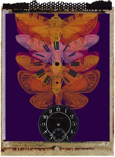 Time in Ascendance   2003 Jim Macbeth (20th C. American) Digital collage  : Stock Photo