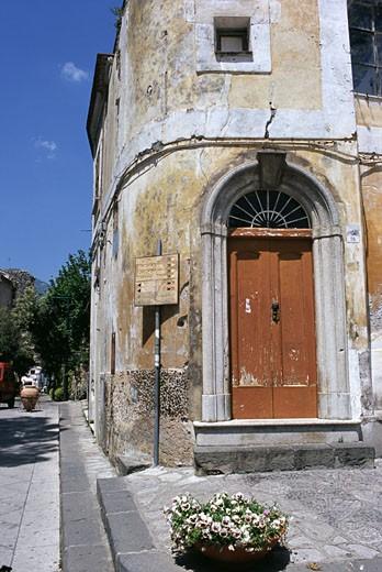 Street beside a building, Ravello, Italy : Stock Photo