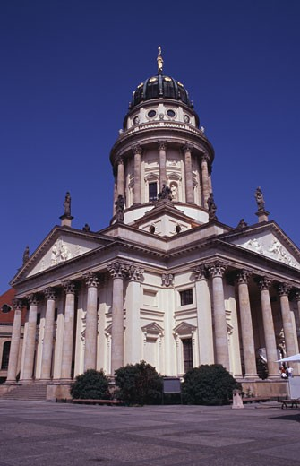 Stock Photo: 1495-404 Low angle view of a cathedral, German Cathedral, Gendarmenmarkt, Berlin, Germany