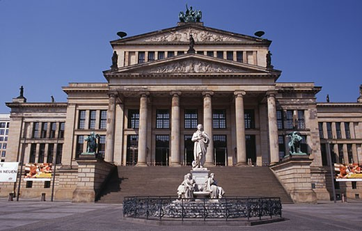 Facade of a government building, Bundestag, Berlin, Germany : Stock Photo