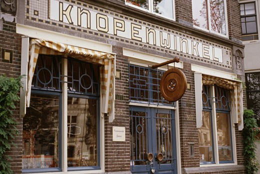 Stock Photo: 1495-445 Facade of a store, Knopenwinkel Button Shop, Amsterdam, Netherlands