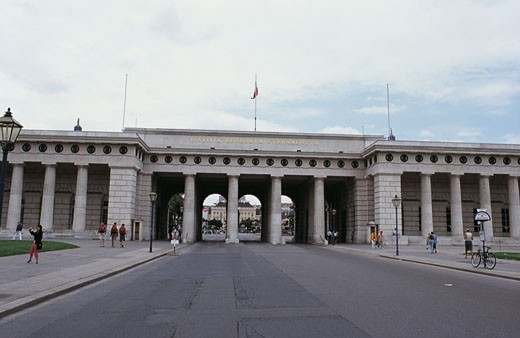 Entrance to a palace, Hofburg Palace, Michaelerplatz, Vienna, Austria : Stock Photo