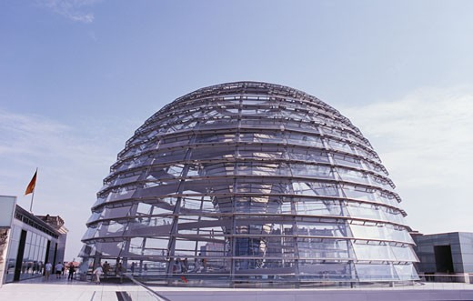 Dome of a government building, Reichstag, Berlin, Germany : Stock Photo