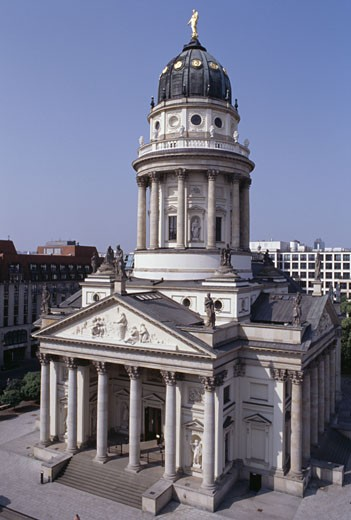 High angle view of a cathedral, German Cathedral, Gendarmenmarkt, Berlin, Germany : Stock Photo