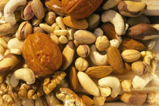 Close-up of nuts : Stock Photo