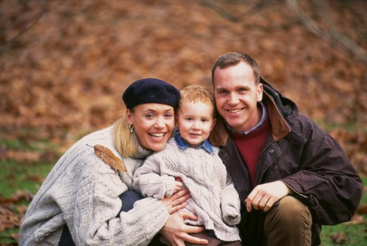 Stock Photo: 1497-326 Portrait of parents smiling with their son