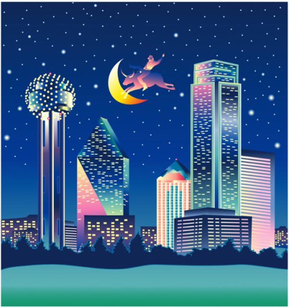 Dallas   2003 Linda Braucht (20th C. American) Computer graphics  : Stock Photo