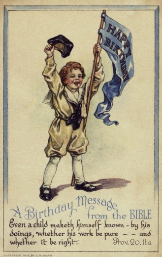 Stock Photo: 1501-143 A Birthday Message from the Bible