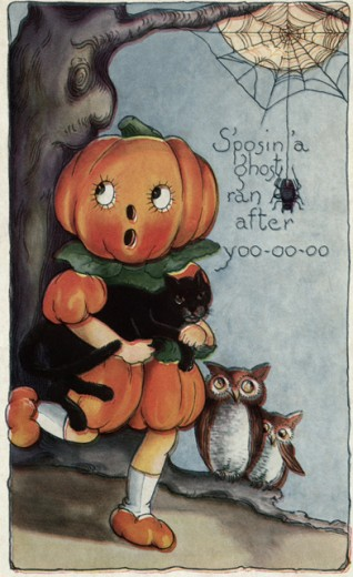 Stock Photo: 1501-160 S'posin' a Ghost Ran After Yoo-oo-oo 