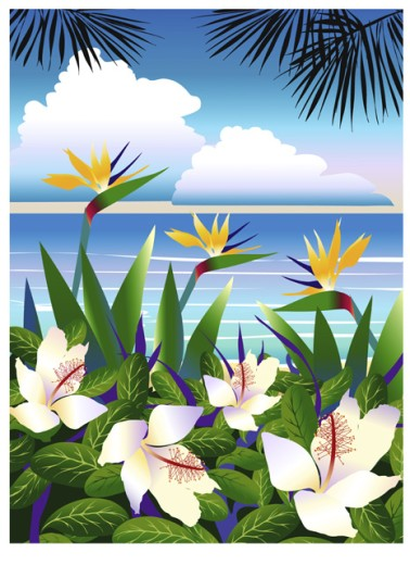 Stock Photo: 1501-256 Tropical Beach 