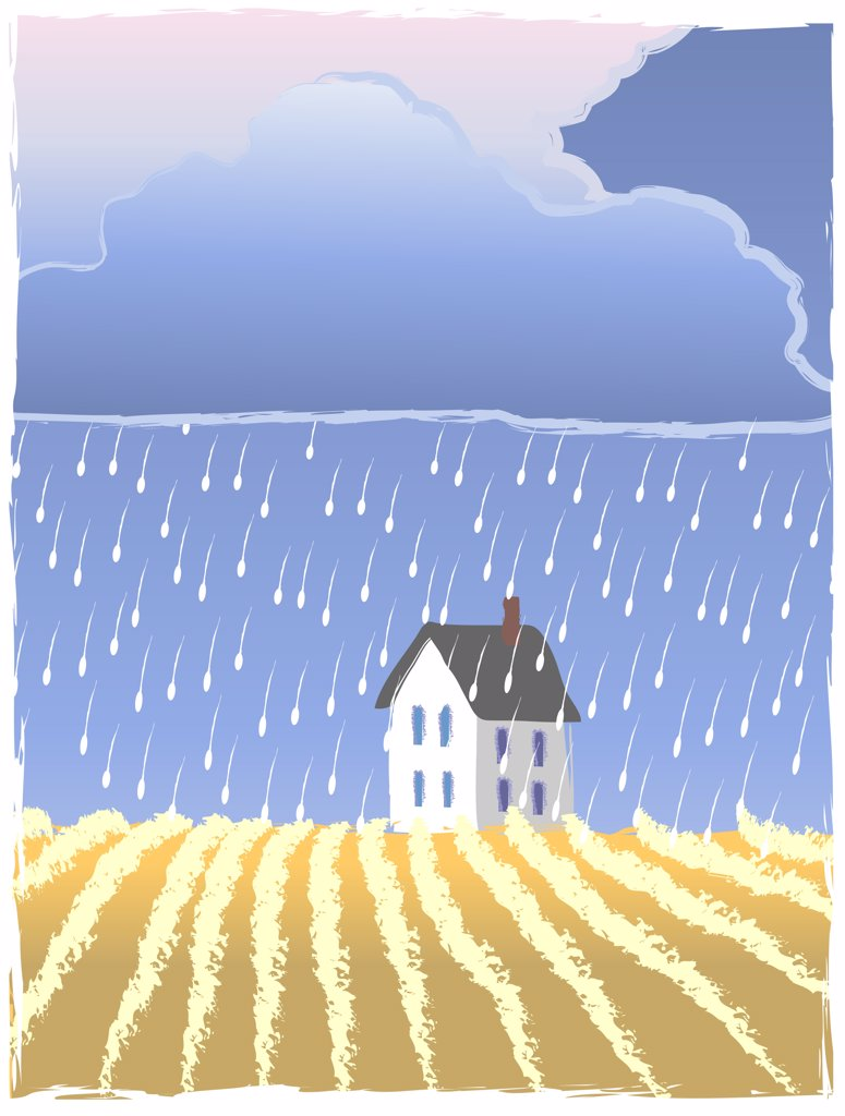 Prairie Hail, illustration : Stock Photo