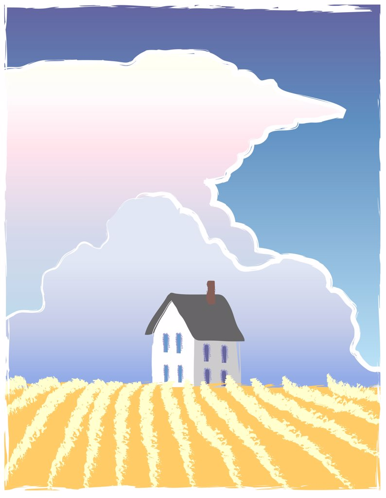 Prairie Storm, illustration : Stock Photo