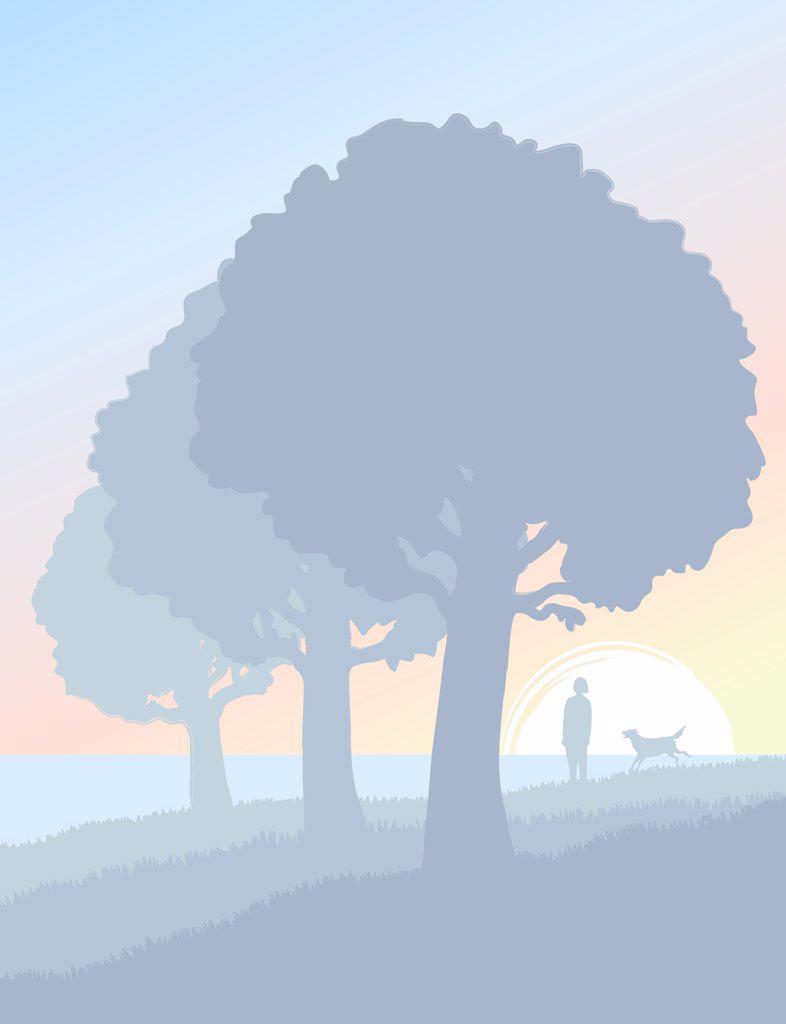 Stock Photo: 1501R-1336 Solitude, illustration