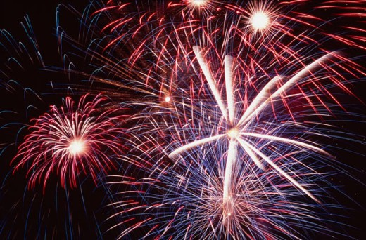 Stock Photo: 1505-122 Low angle view of fireworks