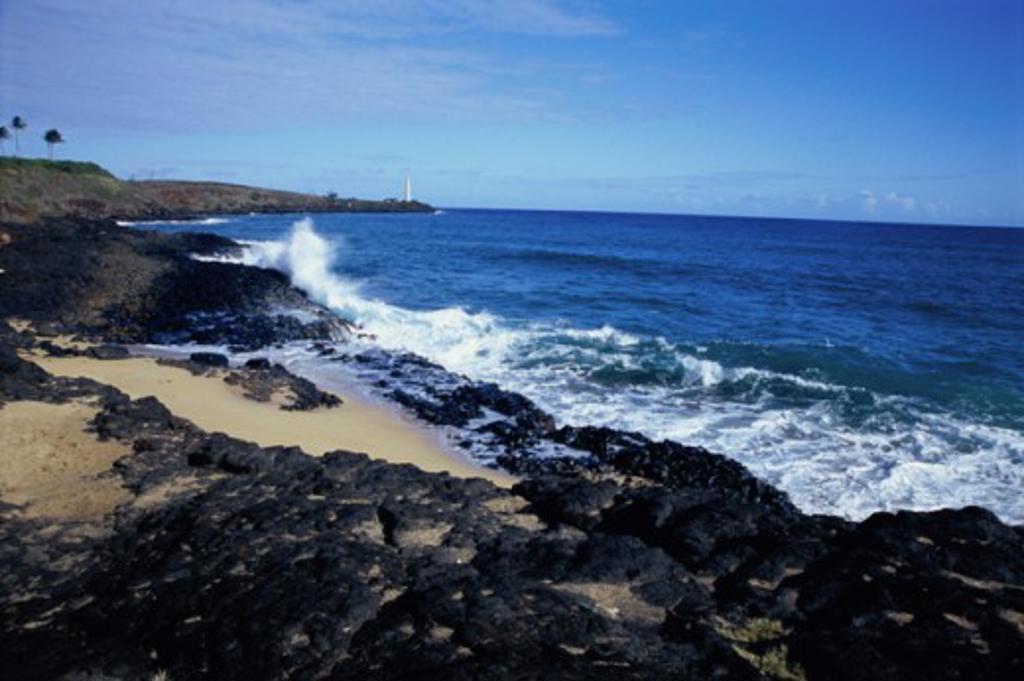 Stock Photo: 1505-173 Secret Beach Kauai Hawaii USA