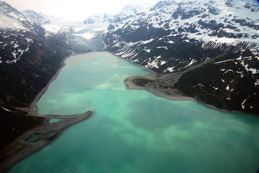 Aerial view of a lake, Glacier Bay National Park, Alaska, USA : Stock Photo