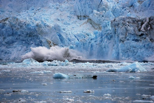 Stock Photo: 1505-283 Calving glacier, Hubbard Glacier, Alaska, USA