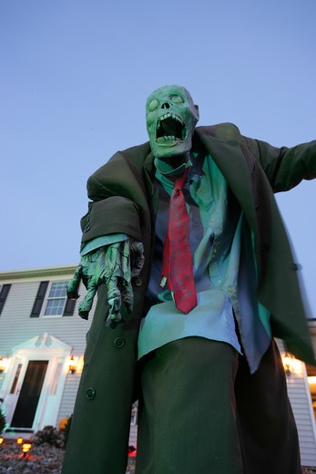 Stock Photo: 1505-384A Low angle view of a Zombie