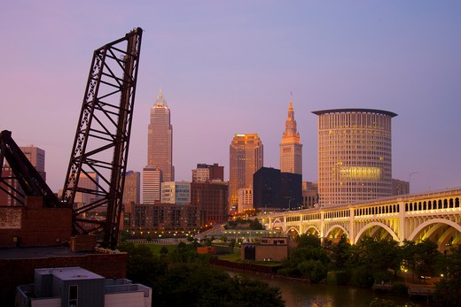 Stock Photo: 1505-391 Buildings in a city, Cleveland, Ohio, USA