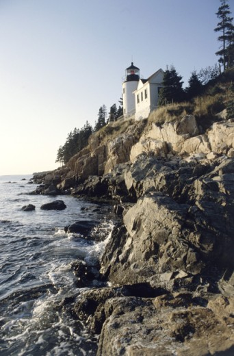 Stock Photo: 1506-128 Bass Harbor Head Lighthouse