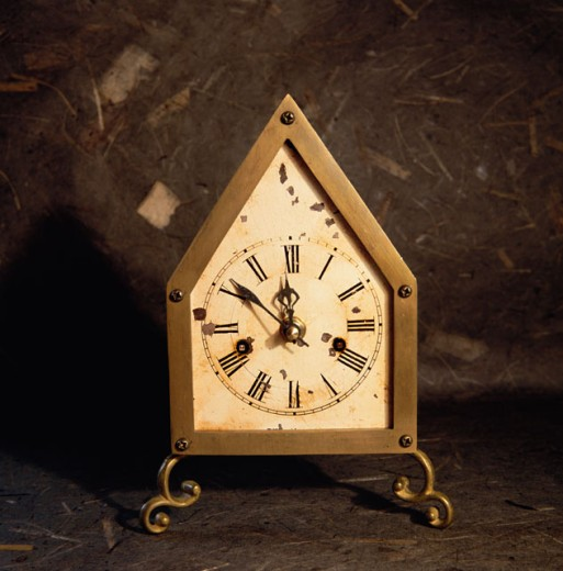 Close-up of an antique clock : Stock Photo
