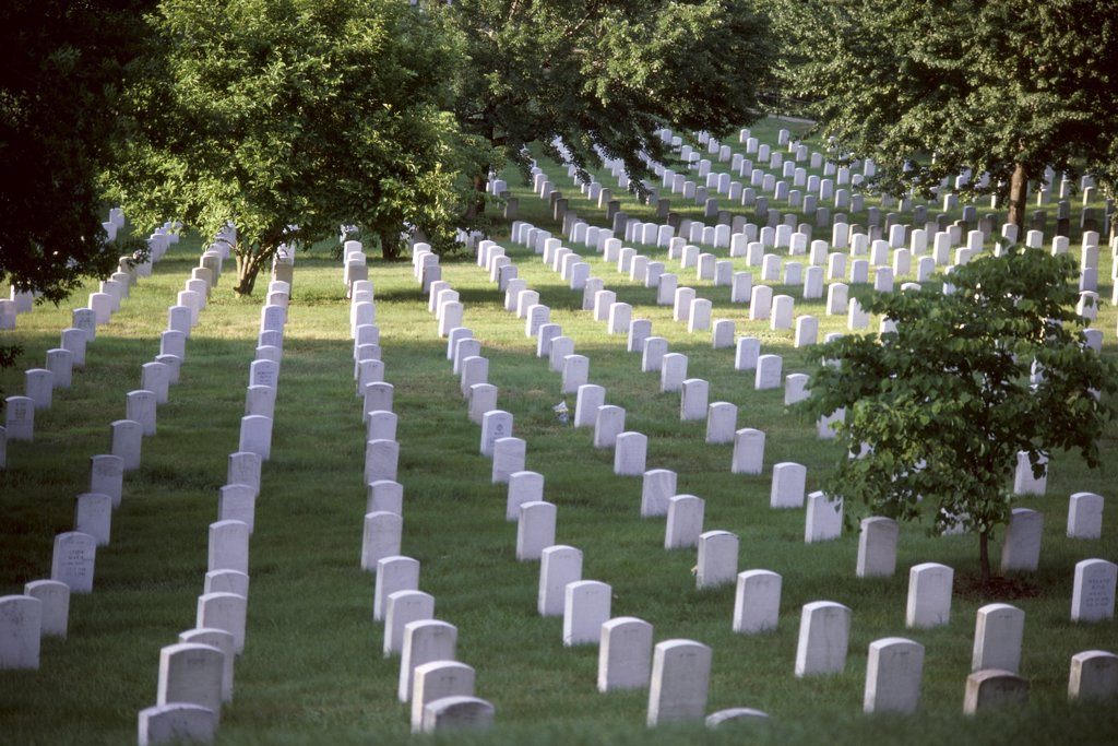Stock Photo: 152-956 Arlington National Cemetery Arlington Virginia USA