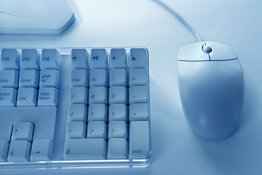 Computer keyboard and mouse. : Stock Photo