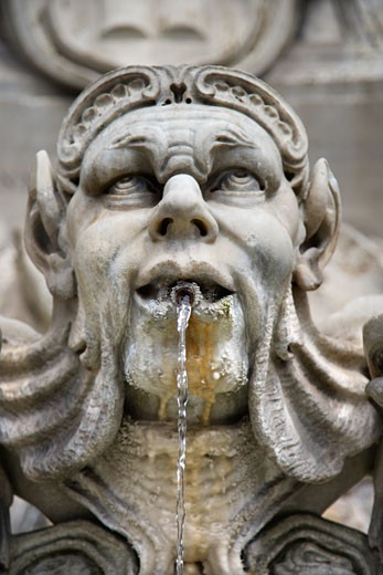 Statue fountain in Rome, Italy. : Stock Photo